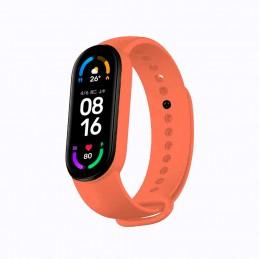 Correa de silicona flexible de color naranja para Xiaomi Mi Band 6 pulsera de recambio para smartband impermeable xiaomi