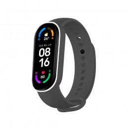 Correa de silicona flexible de color negro y blanco para Xiaomi Mi Band 6 pulsera de recambio para smartband impermeable xiaomi