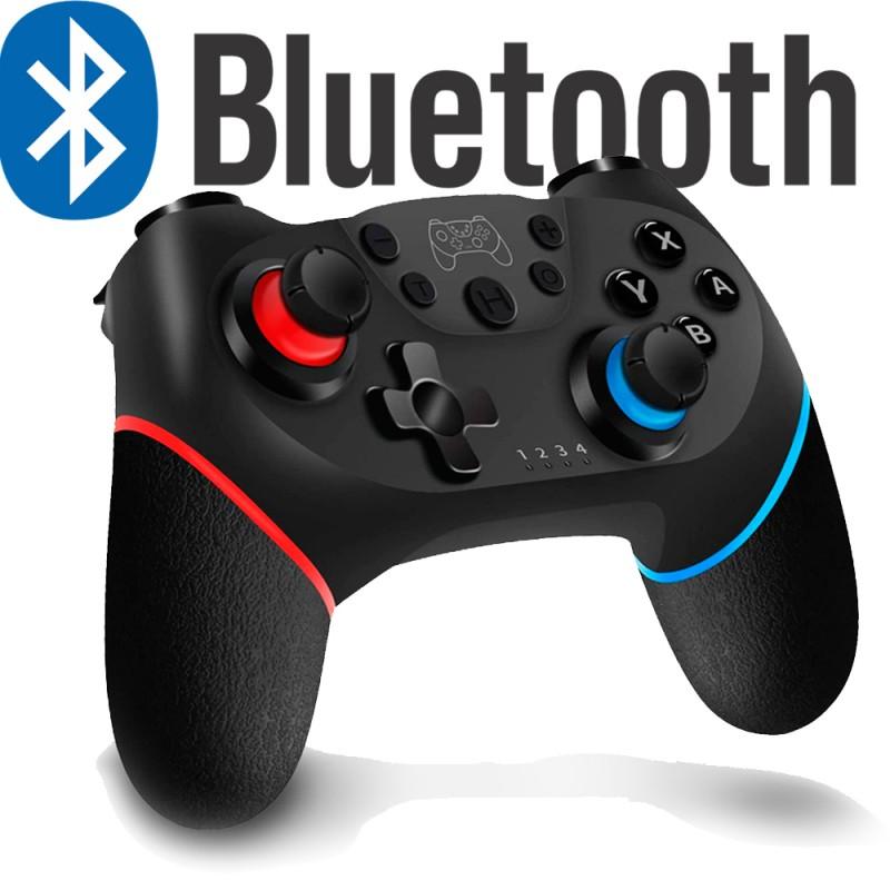 mando inalambrico bluetooth para nintendo switch y pc con vibracion y bateria recargable con usb tipo c