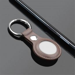 Funda llavero para airtags de apple carcasa protectora de cuero con colgante para mochila collar de mascota bolso