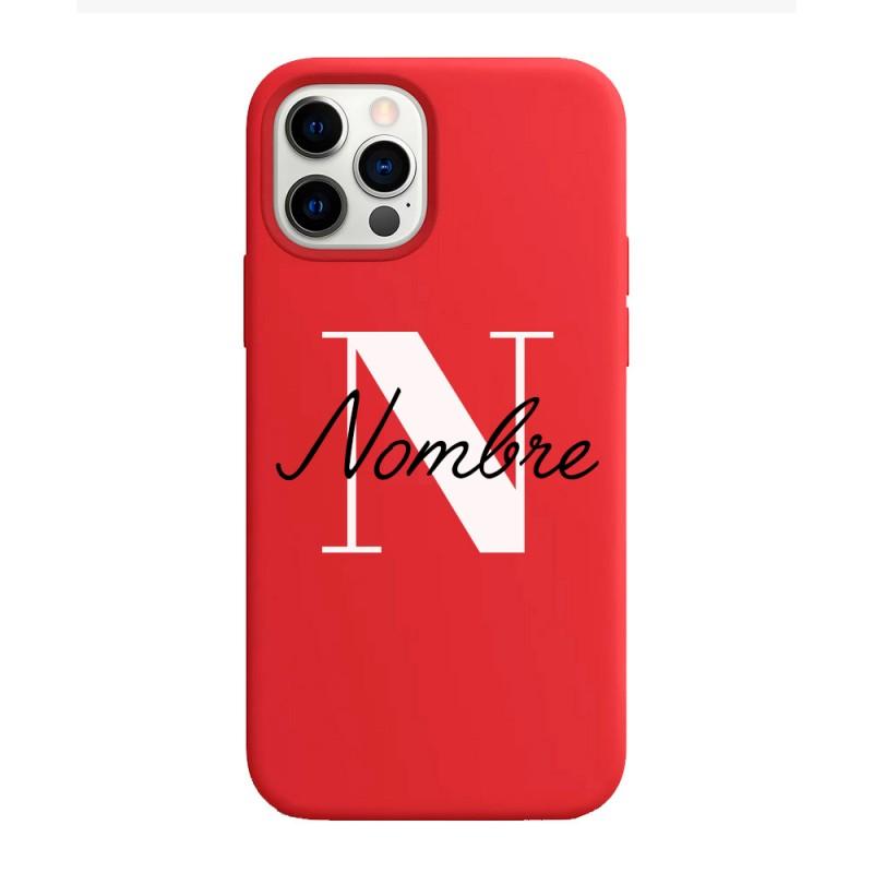 funda con nombre para iphone funda de silicona personalizada con nombres e iniciales para regalo