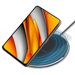 base de carga qi inalambrica rapida para movil compatible con iphone y android. Carga rápida sin cables cargador QI
