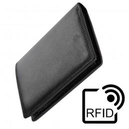 cartera de cuero sintetico para hombre y mujer con nombre personalizada tarjetero billetera con sistema RFID
