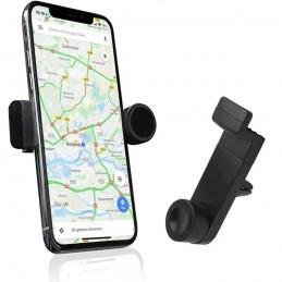 soporte de movil para coche adaptador de rejilla para salpicadero soporte smartphone universal giratorio ajustable