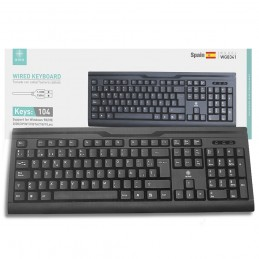 teclado usb en español para pc ordenador portátil compatible con windows y mac con letra ñ