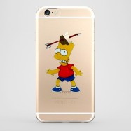 Funda iPhone 6 Bart Simpson Transparente