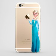 Funda iPhone 6 Elsa Frozen Transparente