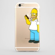 Funda iPhone 6 Homer Comiendo Transparente