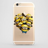Funda iPhone 6 Plus Minions Grupo Transparente