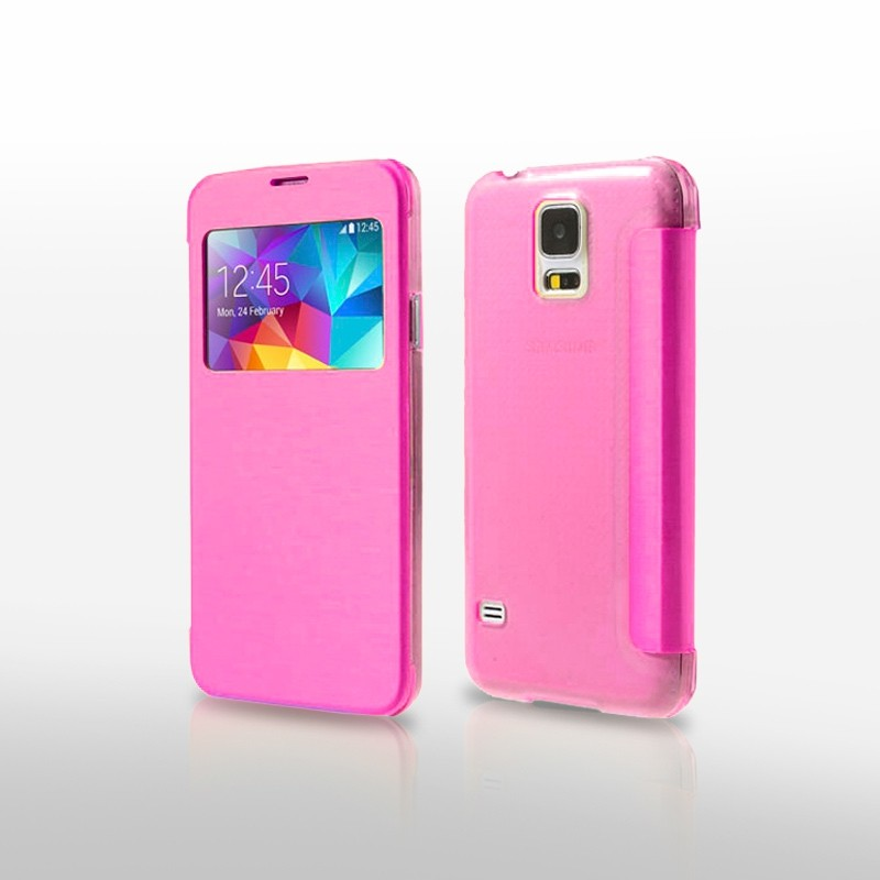 Funda Flip Cover Galaxy S5 Mini S View Ventana