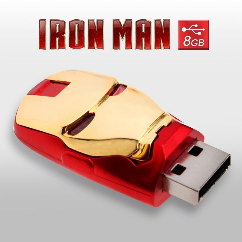 Pendrive Cabeza Iron Man 8GB Memoria USB Marvel