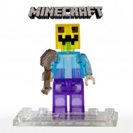 Figura coleccionable transparente compatible con LEGO