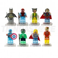 Figuras transparentes coleccionables super héroes  compatibles con LEGO