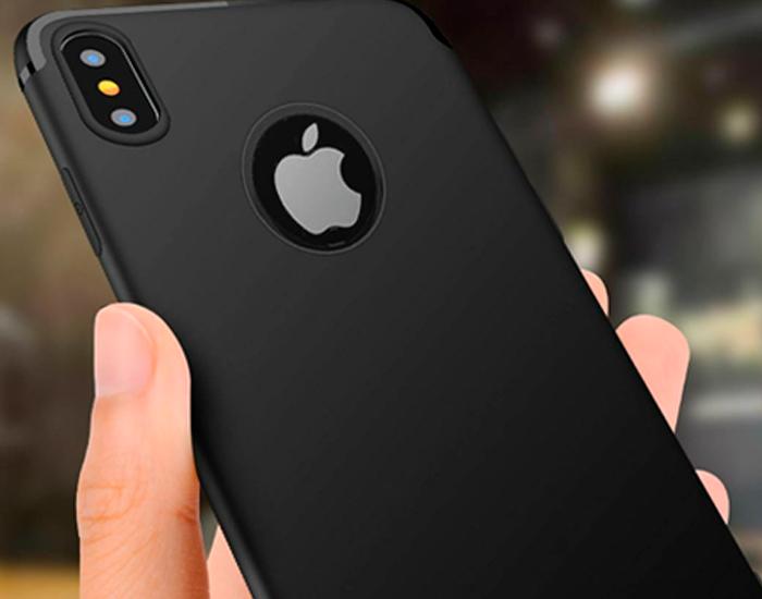 Funda de lujo negra para iPhone X y iPhone XS