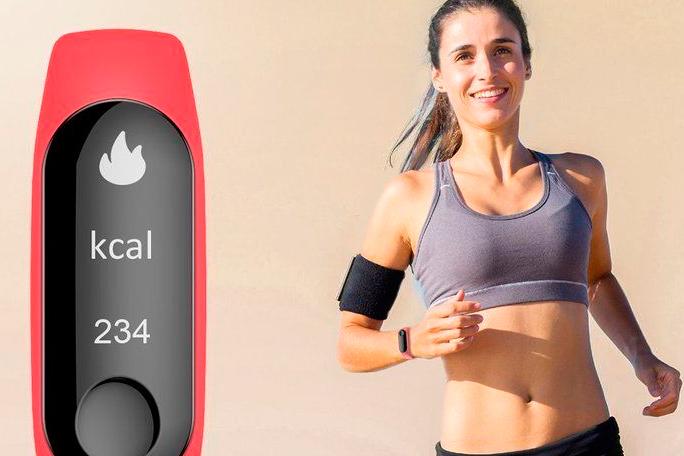Pulsera de actividad mide el ritmo cardíaco y monitorea tus pasos y ejercicios.