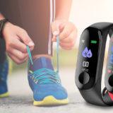 Pulsera inteligente con ritmo cardíaco de silicona M3